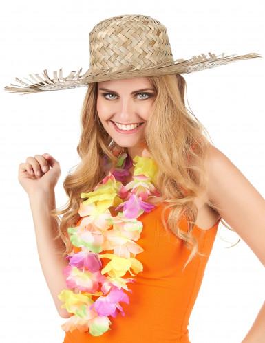 Hat i strå Hawaii til voksne-2