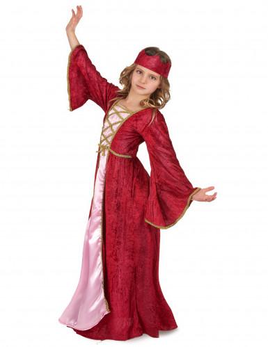 Middelalder dronning udklædning til børn-1