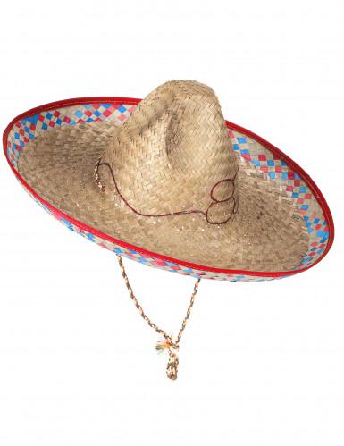 Mexicansk Sombrero i Strå Voksen-2