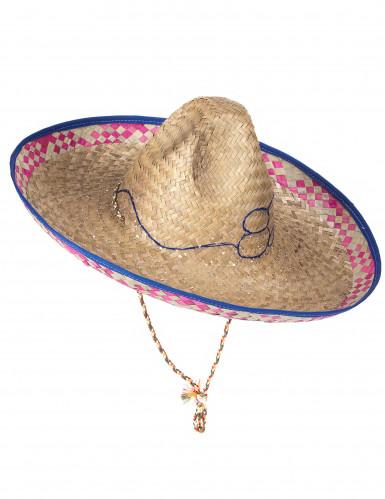 Mexicansk Sombrero i Strå Voksen-4