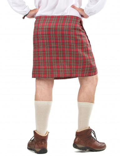Skotsk kilt med skind til voksne-1