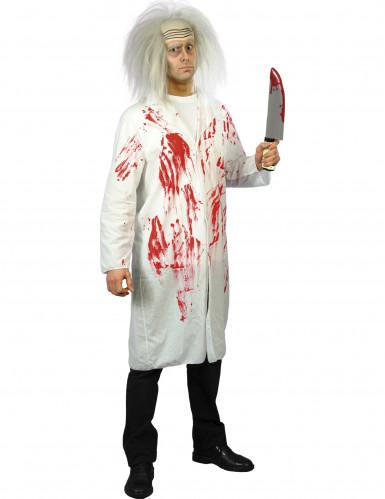 Blodigt lægekostume Halloween - mænd