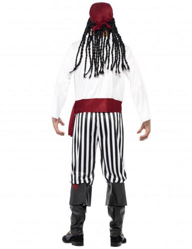 Stribet piratkostume til voksne -2
