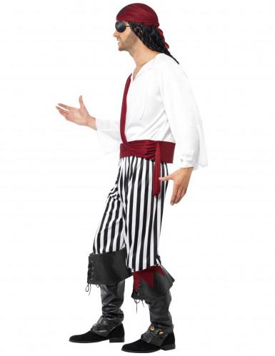 Stribet piratkostume til voksne -1