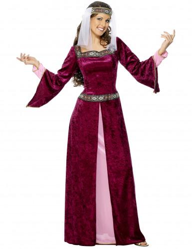 Middelalderdronning - udklædning voksen