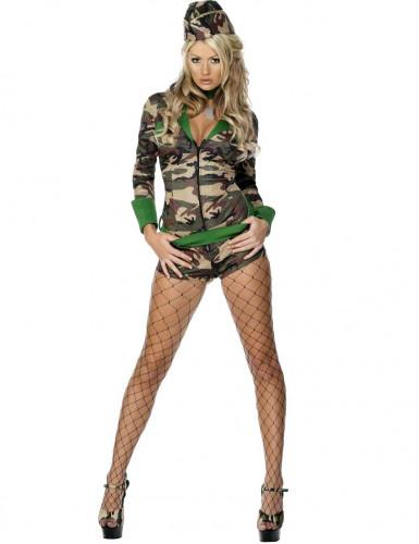 Sexet militærkostume kvinde