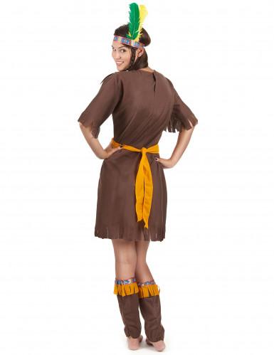 Brun og orange indianerkjole til kvinder-2