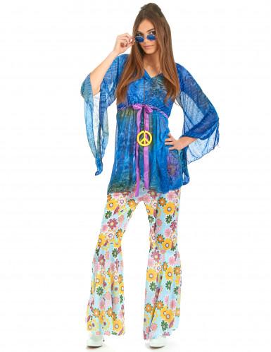 Flower power hippiekostume kvinde