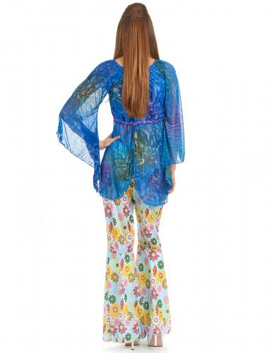 Flower power hippiekostume kvinde-2