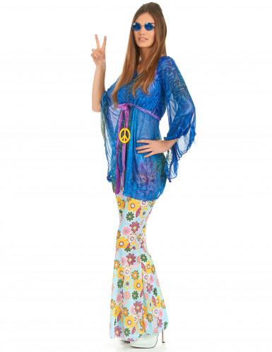 Flower power hippiekostume kvinde-1