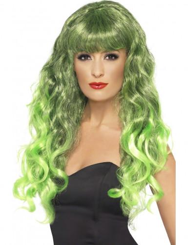 Krøllet Grøn Havfrueparyk Kvinde