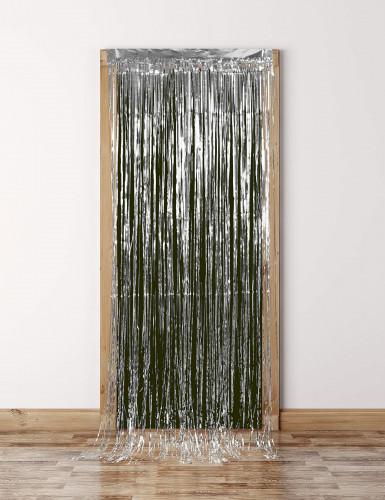 Sølvskinnende dørgardin-2
