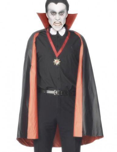 Sort/Rød Vendbar Vampyrkappe Halloween Voksen