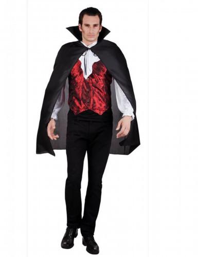 Sort vampyrkappe til voksne - Halloween