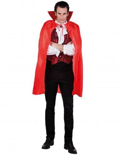Rød Vampyrkappe Halloween Voksen