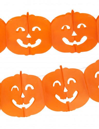 Halloween guirlande med græskar-1