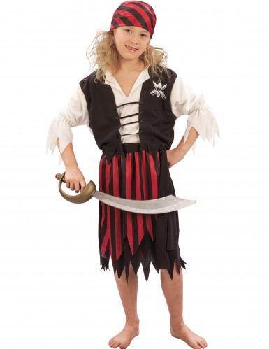 Piratkostume med striber til børn