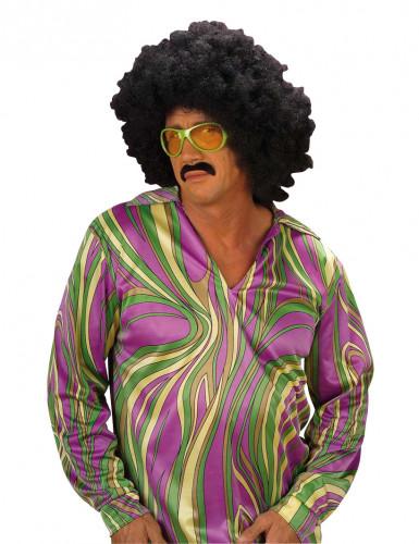 Diskoskjorte lilla herrestørrelse