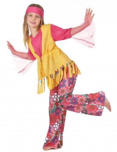 Kostume hippie multifarvet til piger-1