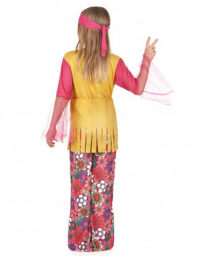 Kostume hippie multifarvet til piger-2