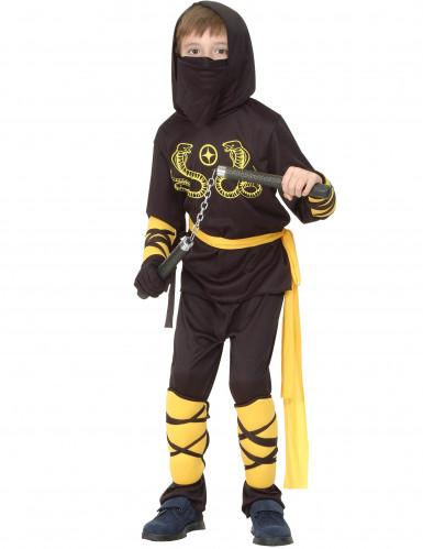 Kostume sort og gult ninja dreng