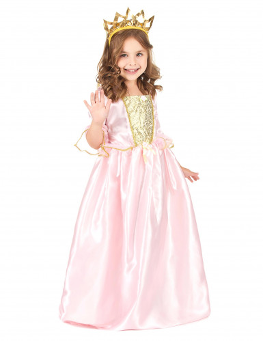 Lyserød prinsesse udklædning til børn