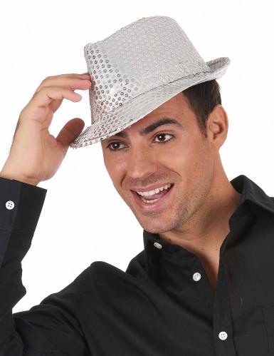Hat i italiensk stil med sølvpailletter Voksne-1