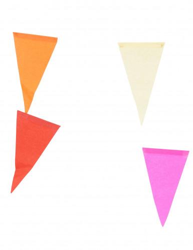 Guirlande multifarvet i papir 10 m-1
