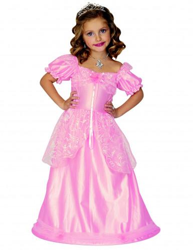 Prinsesse blomst - Lyserødt prinsessekostume til piger