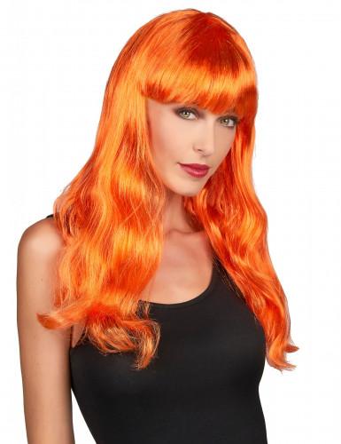 Paryk lang orange kvinde