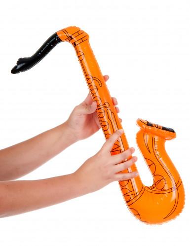 Saxofon orange oppustelig-1