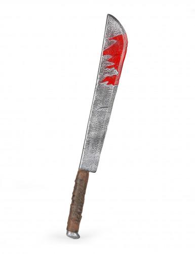 Blodig kniv Halloween af plast