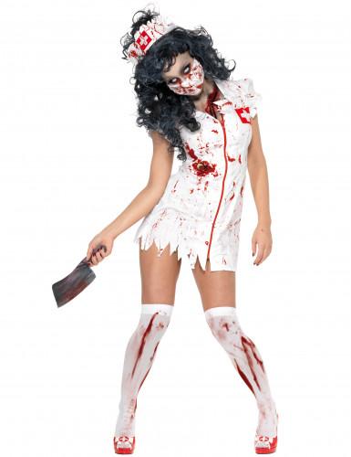 Kostume zombiesygeplejerske til kvinder halloween