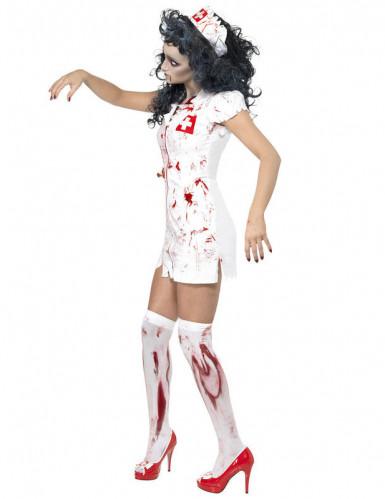 Kostume zombiesygeplejerske til kvinder halloween-1