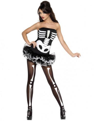Skelet Dame Kostume