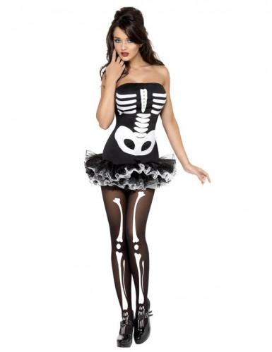 Skelet Dame Kostume-1