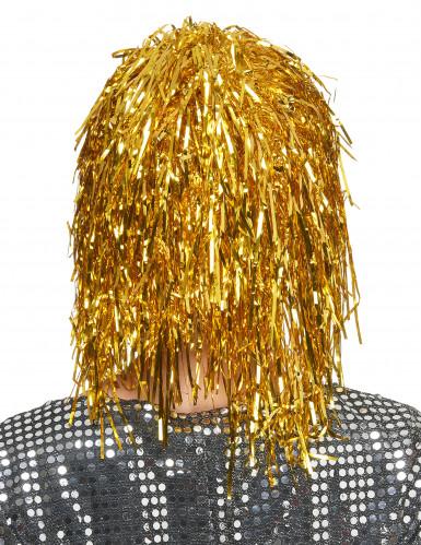 Paryk med guldfarvet glitter-1