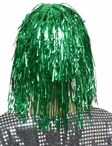 Grøn glimmerparyk til voksne -1