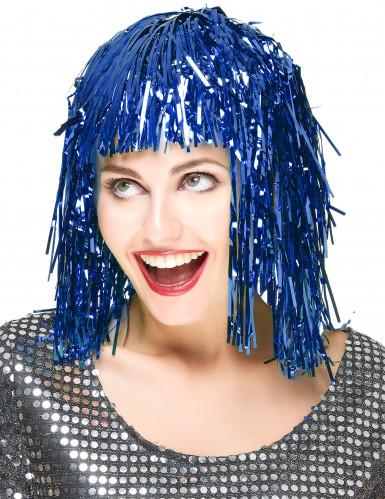 Blå glimmerparyk til voksne