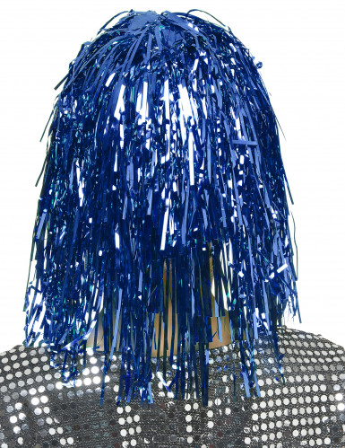 Blå glimmerparyk til voksne -1