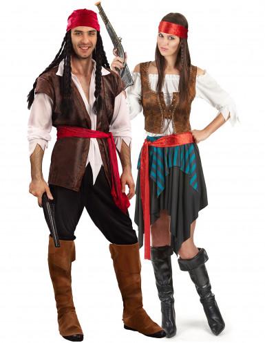 Parkostume pirat luksus