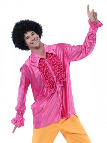Skjorte disco lyserød til mænd