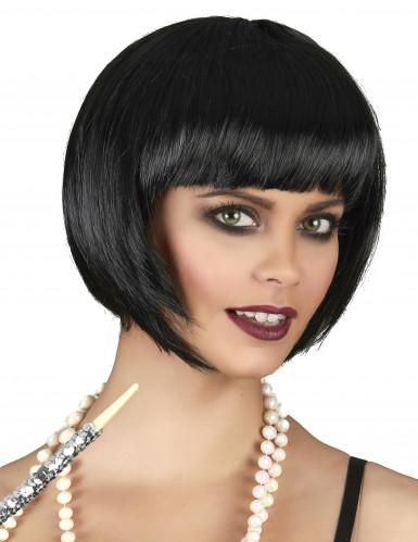 Paryk kort hår sort