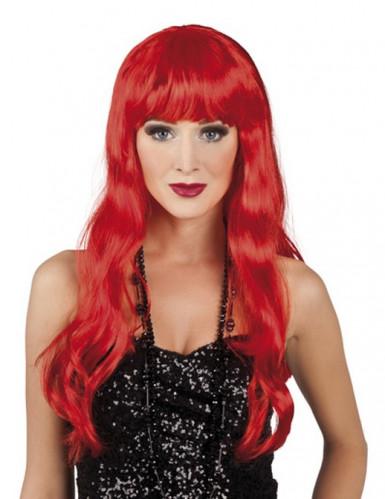 Paryk langt hår rød