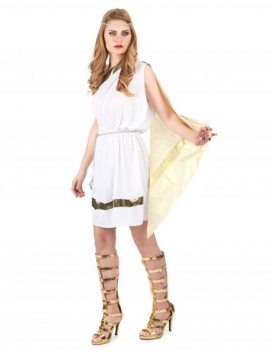 Romersk gudindekostume i hvidt -1