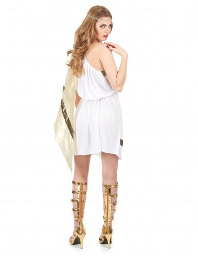 Romersk gudindekostume i hvidt -2