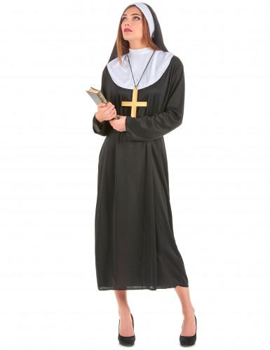 Sort nonne og brunt munke parkostume til voksne -2