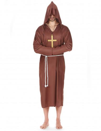 Sort nonne og brunt munke parkostume til voksne -1