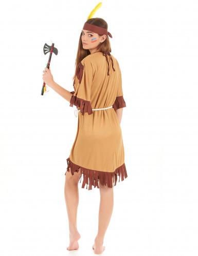 Tofarvet indianerkostume kvinde-2