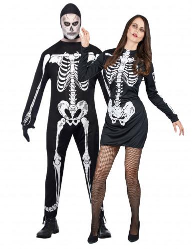 Parkostume skelet Halloween